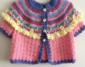 Item95 child's crochet sweater size 3/4