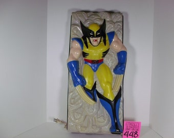 1993 Headlites Wolverine Lighted Wall Sculpture