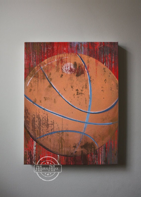 Vintage basketball canvas reproduction vintage sports canvas for Vintage basketball wall art