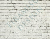 Photography Digital Backdrop, Floordrop ,12 x 16in,  ready for print, White Brick, INSTANT DOWNLOAD