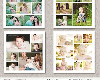 20x20 Story Board Collage Template for Adobe Photoshop, Blog Board Template For Photographers, sku-12