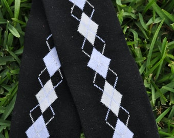 Black and Argle Leg Warmers- customize available