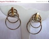 CIJ Sale Silver Tone Metal Hoop Earrings For Pierced Ears