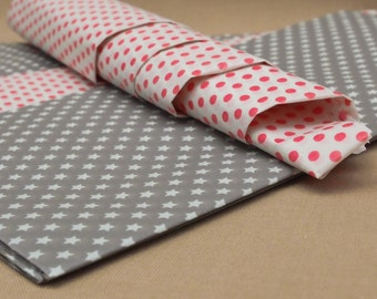 Tilda Gift Wrap-Tissue Paper-Dotted/Star pattern - great for wrapping/scrap booking/craft