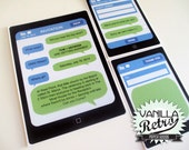 PRINTABLE Fun iphone themed Wedding Invitation Suite, Set of 3, Invite, RSVP & Thank you templates