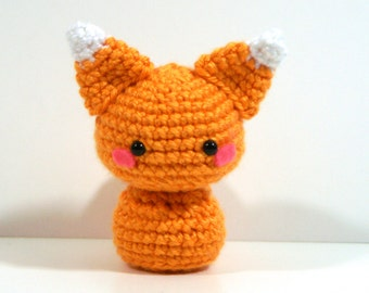 Crochet Cinnamon the Fox, Amigurumi Fox Toy, Fox Plush Handmade