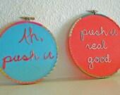 Salt N Pepa Embroidery Hoop Wall Art Set