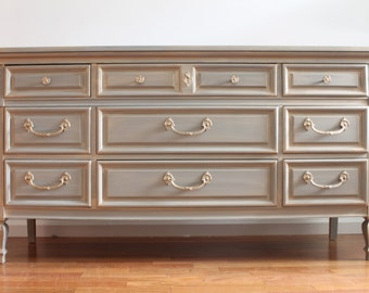 SOLD****French Grey Dresser/Chest of Drawers/Changing table -SEE BELOW***
