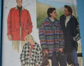Simplicity 9714 Misses - Meens Teens Jacket- UNCUT sewing Pattern - Sizes XS-S-M