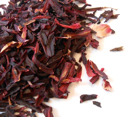 Organic HIBISCUS FLOWER PETALS - Add a bit of Zing to your Tea - Beautiful in Potpourri and Incense