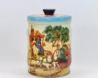 Lovely Vintage Tin, Lidded Tin, Tin Box, Storage Container, Vintage Candy Tin, Rileys Tin
