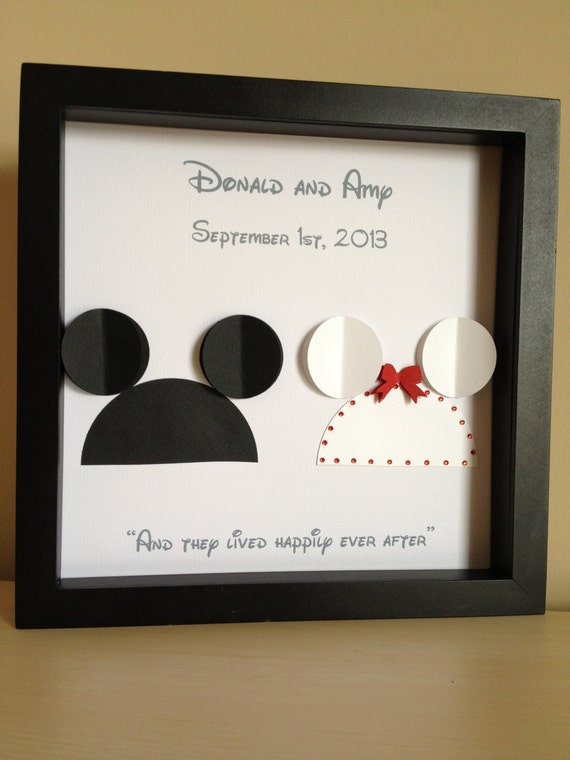 Disney Wedding Gift Card Box : Disney Inspired Wedding - 3d Paper Art - Customize for the perfect ...