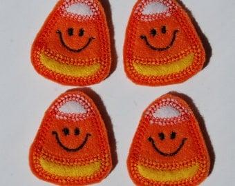 Smiling Candy Corn Feltie Felt Embellishments