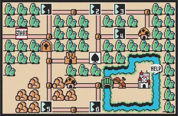 Super Mario Bros World Mapa Super Mario Bros 3 World 1