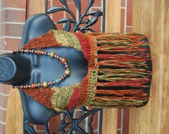 Autumn Dawn Crochet Hippie Halter Top