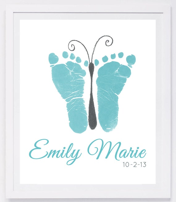 Baby Footprint Art Forever Prints Hand And Footprint Keepsake