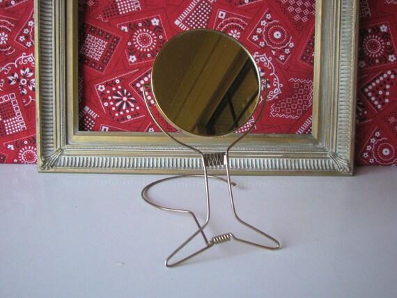 Vintage Mirror Gold Around The Neck Hands Free Standing