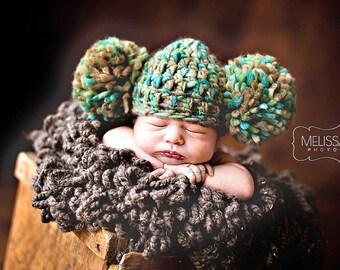 Newborn Baby Hat Photography Prop Pom Pom Beanie Hat Baby Girl Hat Newborn Photography Props Baby Photo Props for Newborn Photography