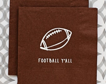 BN1214 - football y'all beverage napkin, 20 pack