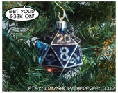 Gamer Geek hand decorated shatter resistant ornament D20 inspired Christmas decoration nerdy - ThePerfectCup