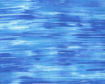1/2 Yard OOP Michael Miller Summer Day Water Incredible Mid Century Pattern and Color Turquoise Azure Blue