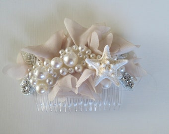 Vintage Inspired Beach Wedding Comb-Beach Wedding Comb- Mermaid Comb-Beach Bridal Comb-Vintage Style Bridal Comb