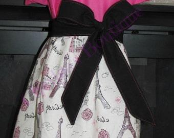Valentines Dress - Party dress - Paris - American Girl dress - Birthday dress - Girls dress