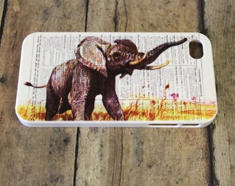 elephant in field, newspaper, paper iPhone 4/4s case/cover clearance Black Friday cyber Monday sale Christmas gift present stocking stuffer