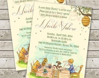 Classic Pooh Baby Shower Invitation
