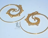 Bali Brass Gauges earrings  BPR103