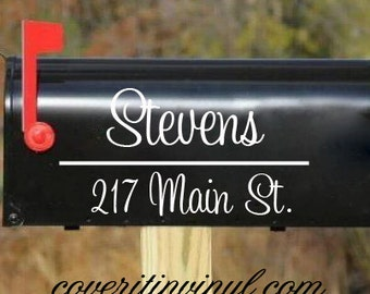 Personalized Mailbox Decal - Set of Two
