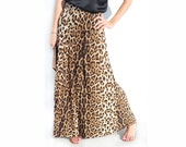 Women Long Maxi Leopard Animal Print Skirt Stretch Bodycon  - NEW Handmade