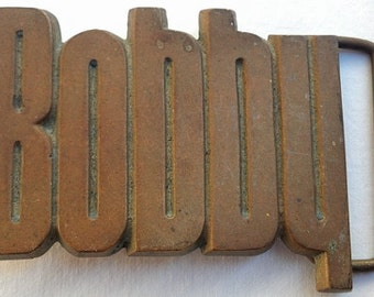 Vintage Bobby Name Belt Buckle - Gift Idea - Personalized