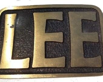 Vintage Lee Name Belt Buckle - Gift Idea - Personalized