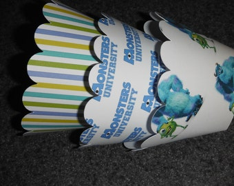Sully Cupcake Wrappers Set of 12Monster University  Monster Inc Mike and Sully