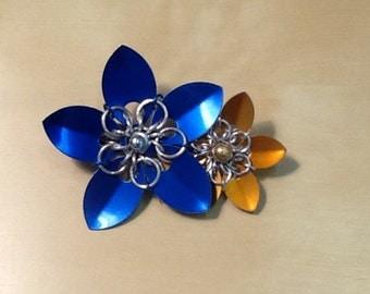 double flower barrette