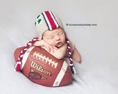 Ohio State Baby, OSU Buckeye Helmet Hat, Ohio State Baby - Made to Order - Newborn, Up to 12 Months