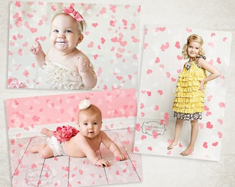 Hearts Photo Overlays - Photography Valentine's Day Heart Overlays - PSD & PNG - ID173 Instant Download