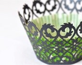 20 Gothic Laser Cut Cupcake Wrappers Wraps - 15 Colors Available