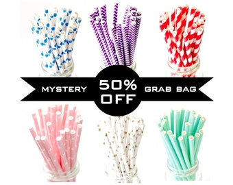 50% OFF Mystery Paper Straw - 1 Pack of 25 Pieces