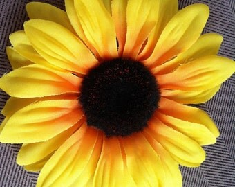 Large Sunflower Hair Clip