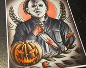 Michael Myers Tattoo Art Print