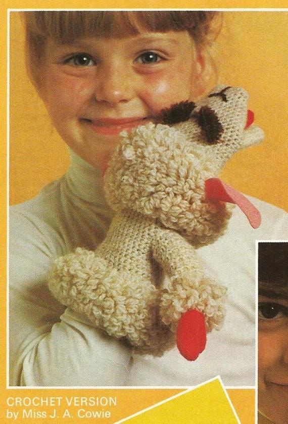 Lamb Chop Shari Lewis Vintage 1970s Puppet Toy PDF knitting