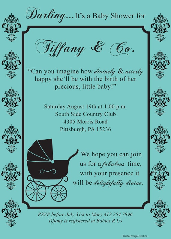 Tiffany And Co Invitations Baby Shower were Fresh Ideas To Create Great Invitations Sample