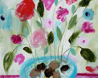 Original--Solstice Blooms 12x12
