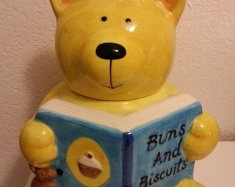 Bear Cookie Jar - Buns and Biscuits - by Rayware
