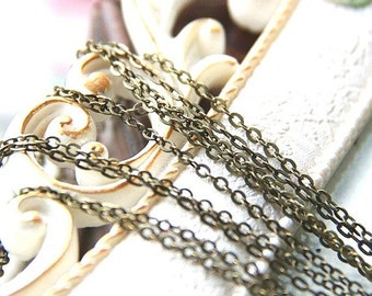 6 meters of O shape brass chain 2mmx3mm-9904-antique bronze
