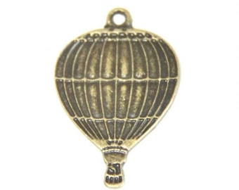 12 pcs of metal hot air balloon charm pendant-18x25mm-1225-antique bronze