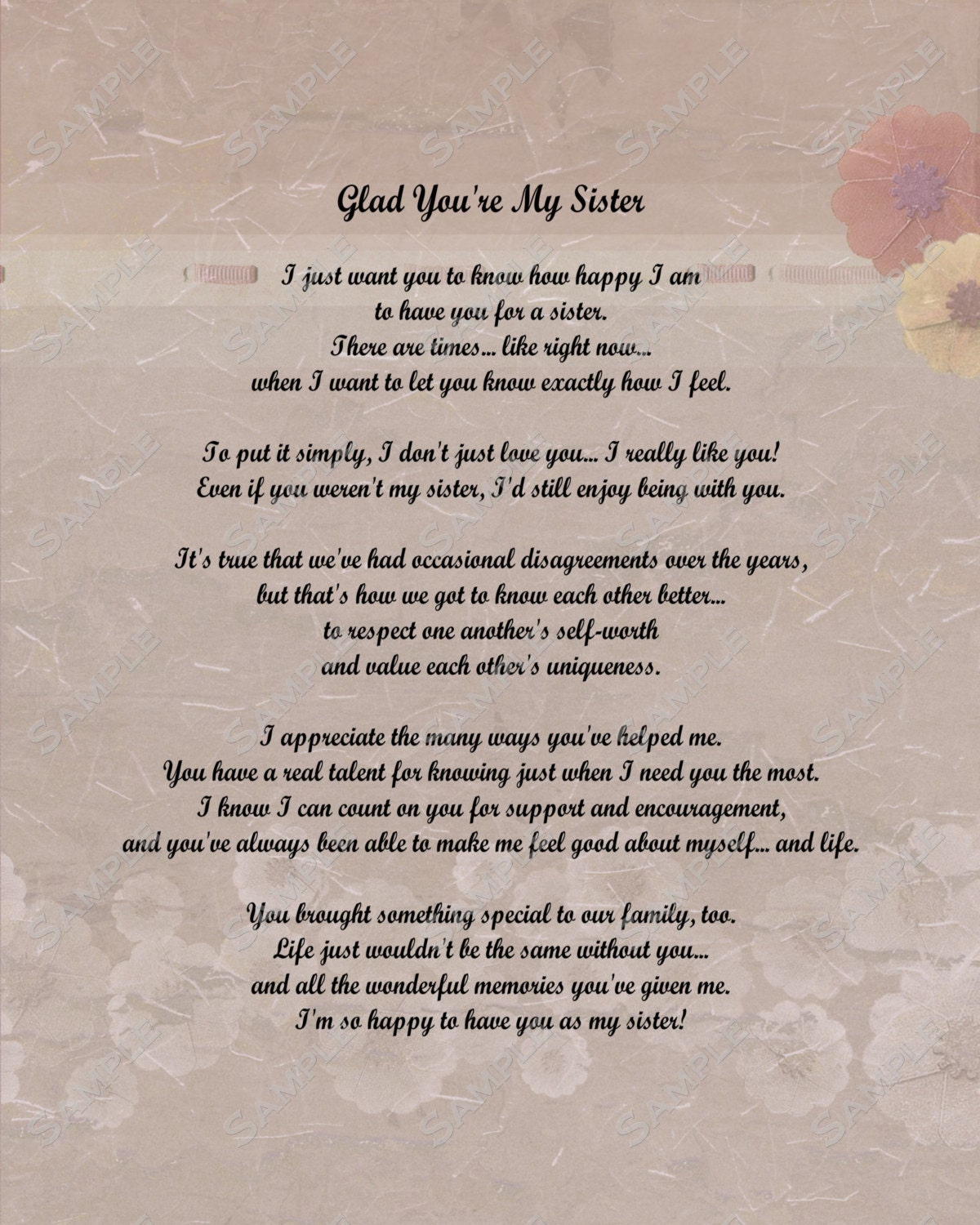 older sister poems that make you cry - photo #10