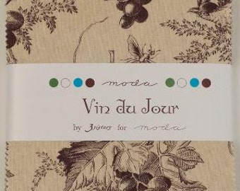 VIN du JOUR, Charm Pack, by 3 Sisters for Moda